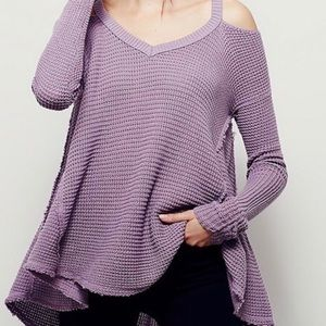 Free People Moonstone Cold Shoulder Sweater